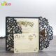 Laser cut wedding invitation Luxurious wedding invitation card with envelope