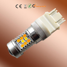 Top quality car led turning switchback white yellow ( amber ) 3157 dual color led bulb light