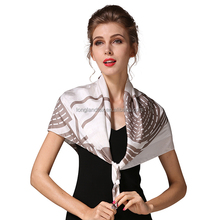 Women's square size custom digital printed 100 pure silk scarves