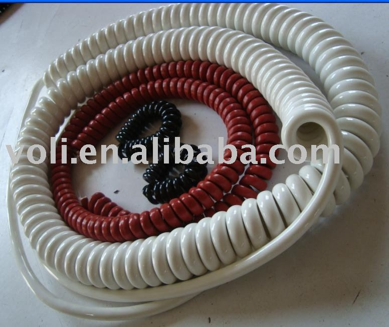 1-37 Core Electrical Coil Cables,coiled ethernet coil cable,Coil Cable