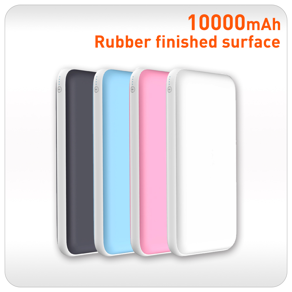 Rubber finished 2a output 10000mah Mobile power supply powe bank