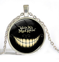Alice In Wonderland Time Gems We Are All Mad Here Necklaces