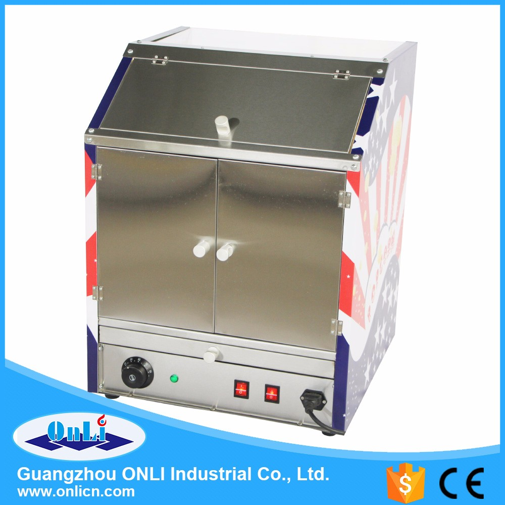 Commercial Hot Air Popcorn warmer showcase - Two food area