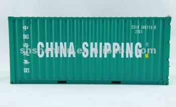 Model shipping container 20' GP 1:20 scale ABS