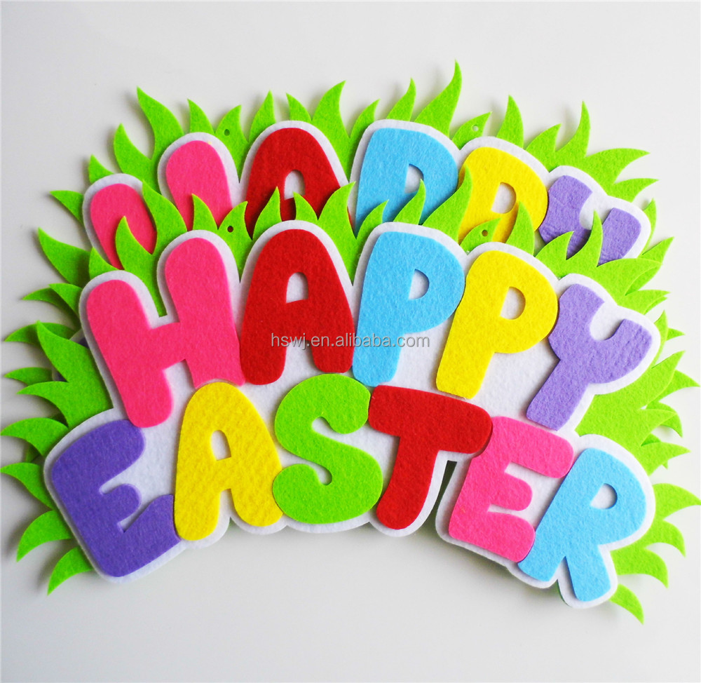 Colorful Happy Easter Design Window Clings Charming Stickers Decoration - 2 pieces in 1 packet