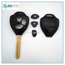 High Quality Toyota remote car key shell with chip Car Key Toyota transponder chip romote key shell