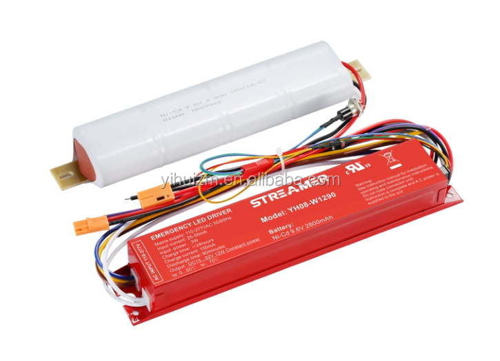 Emergency battery backup for 16-100W led light with UL number E483815