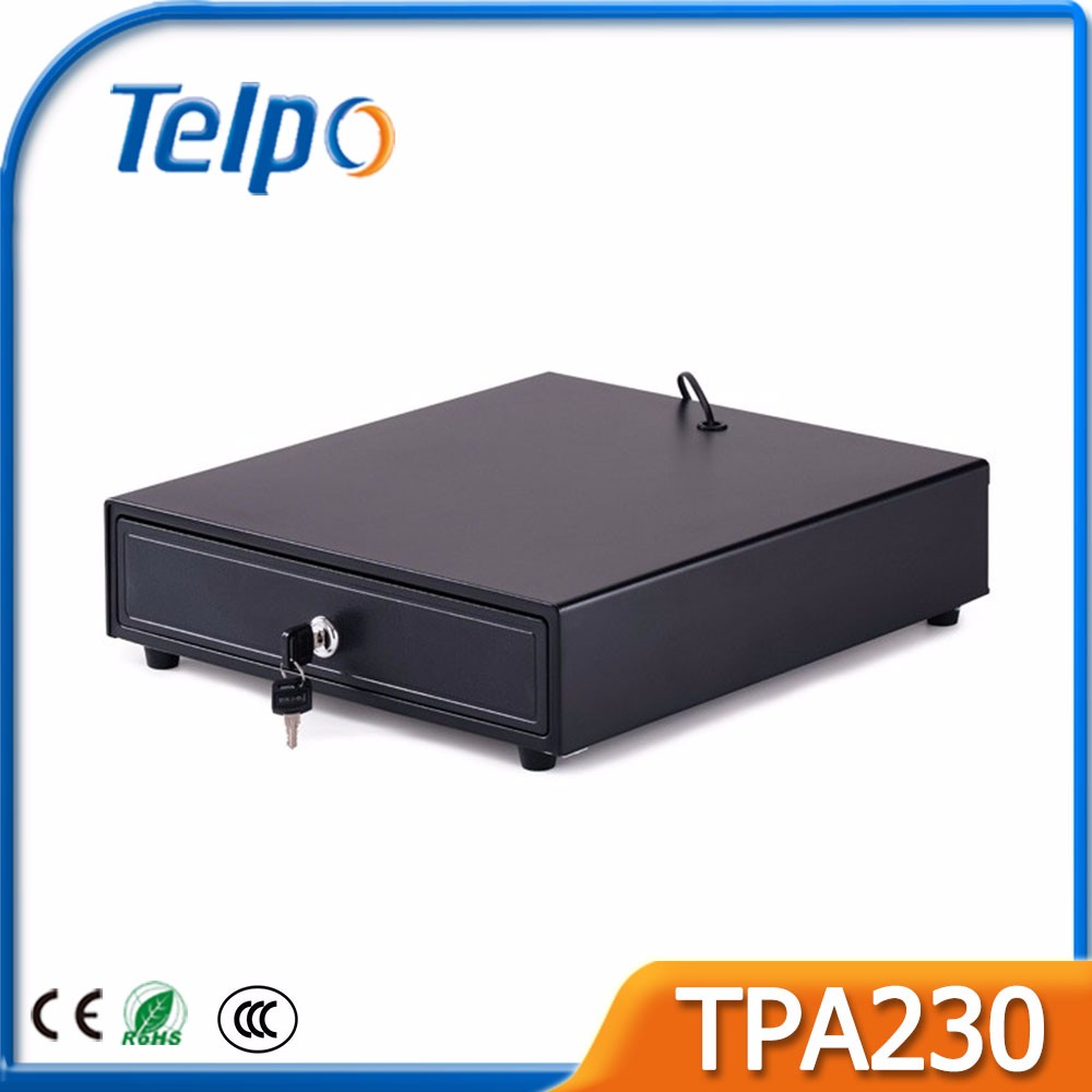 Telepower Factory Price Cashier Equipment Cash till with electronically driven Drawer lock