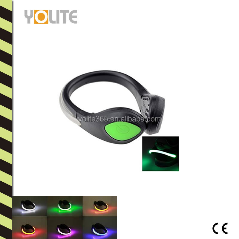 LED Light with Safety Clip, Plastic Housing/Portable Safety LED Light Shoe Clip