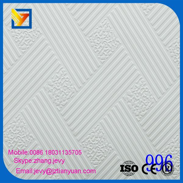 new designs sound absorbing 7.5mm pvc gypsum board ceiling with large quantity