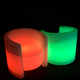 Outdoor indoor waterproof modern design plastic led 16 colors changing led sofa for garden home LED bar chair stool