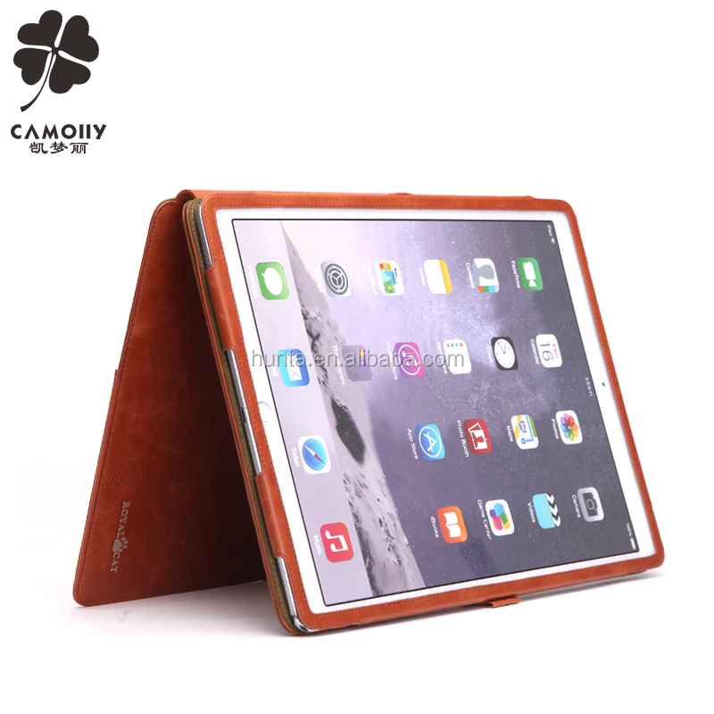 Luxury flip cover case for tablet for apple ipad pro 12.9 leather stand case shockproof