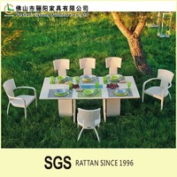 Sales of beauty and nobility of outdoor garden plastic tables and chairs, reasonble price outdoor wine shop wicker furniture