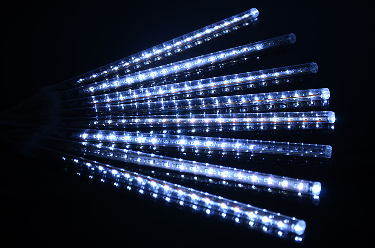 CE ROHS approved 30cm 50cm SMD 8 pcs per set led meteor light shower rain tube lights outdoor IP65 falling rain light 110V/220V
