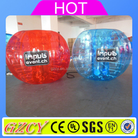 Latest Craze 1.5m Red And Blue Human Sized Soccer Bubble Ball Inflatable Bumper Ball