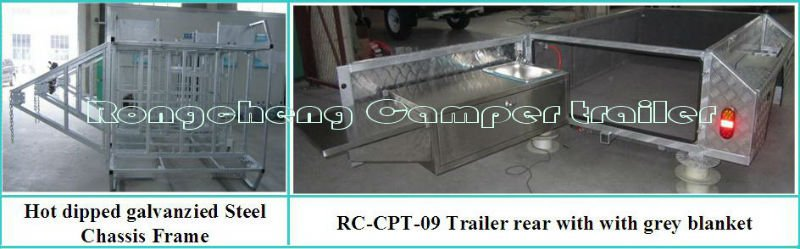 Hot sale soft floor aluminum camper trailer of light weight and off road type