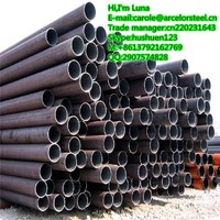 high quality SCH80 din 2448 st35.8 seamless carbon steel pipe from China