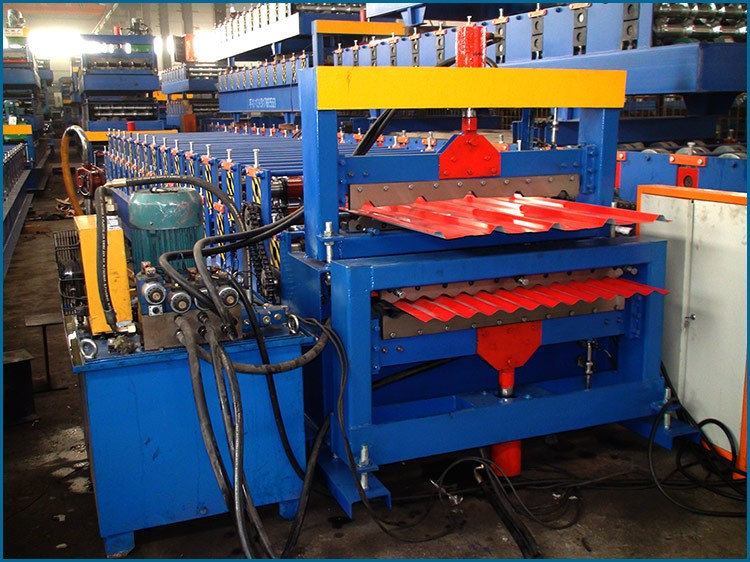 Double Layer Partial Arc Color Steel Roof Tile China Roll Forming Machine