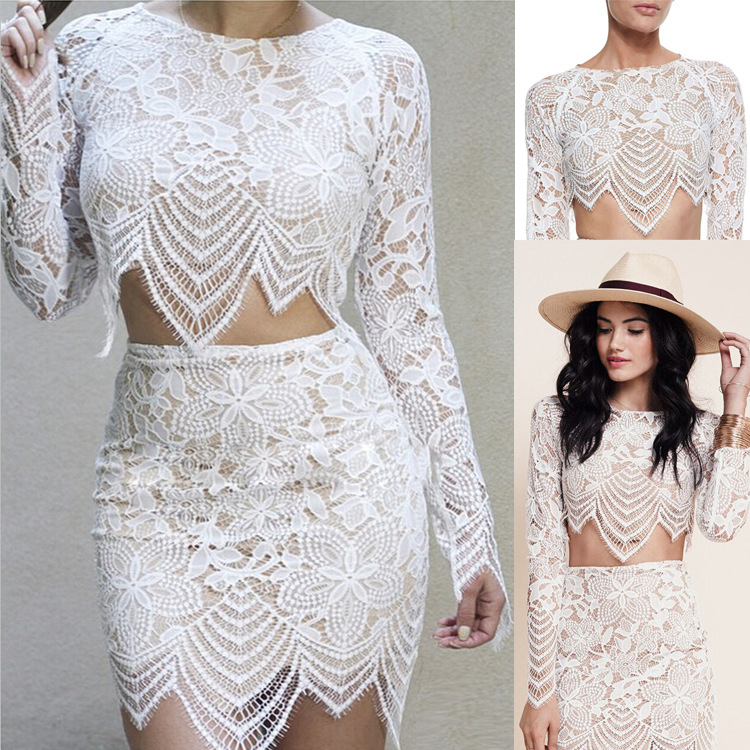 exy women summer white lace floral pencil skirt high quality elegant skirt
