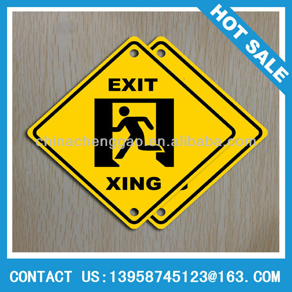 Customized aluminum metal road safety signs