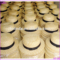 men woman cheap natural wheat straw boater hat