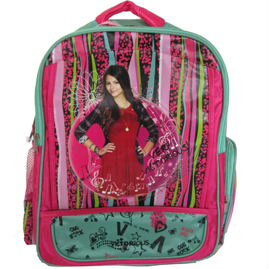 2013 Fashion Cartoon Picture School Bag Ripstop Bag Backpack For Girls