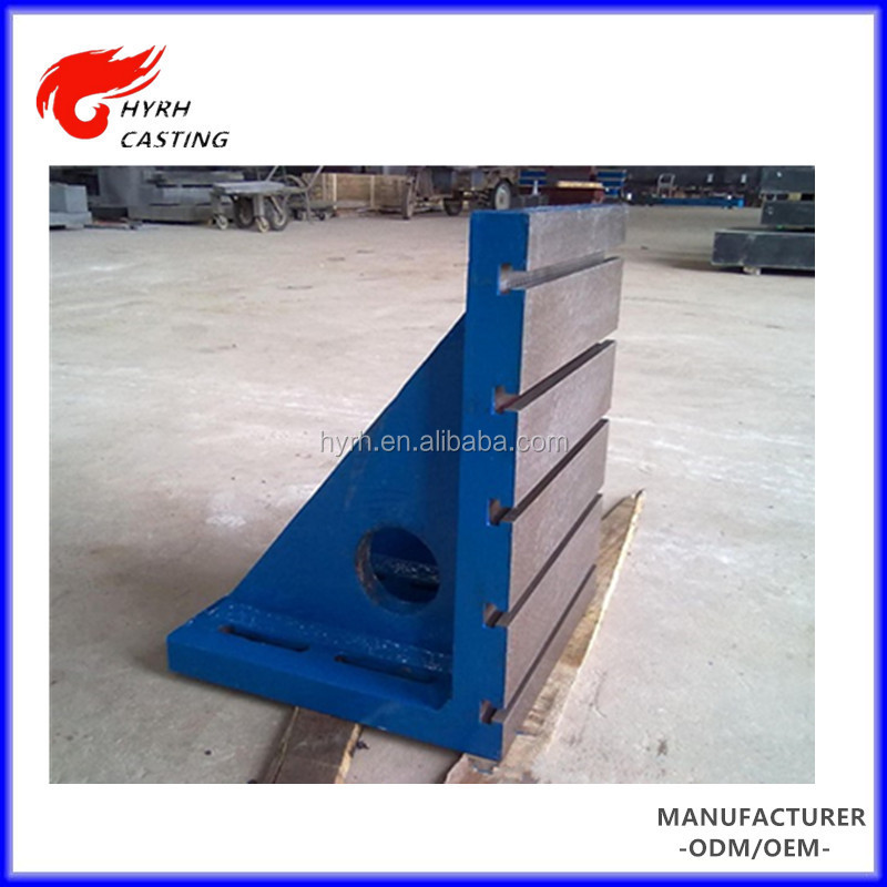 Factory sale directly t slot cast iron t-slotted angle plate