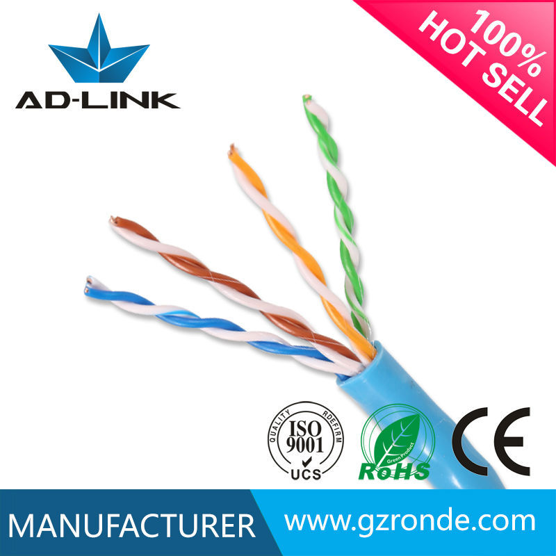 High speed hot sale Jacket OD 5.0mm 4P 8C cat5e indoor/outdoor copper lan cable