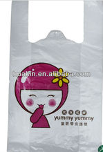 printed poly /HDPE carry out t shirt bags