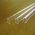 Heat resistance transparent quartz glass tube