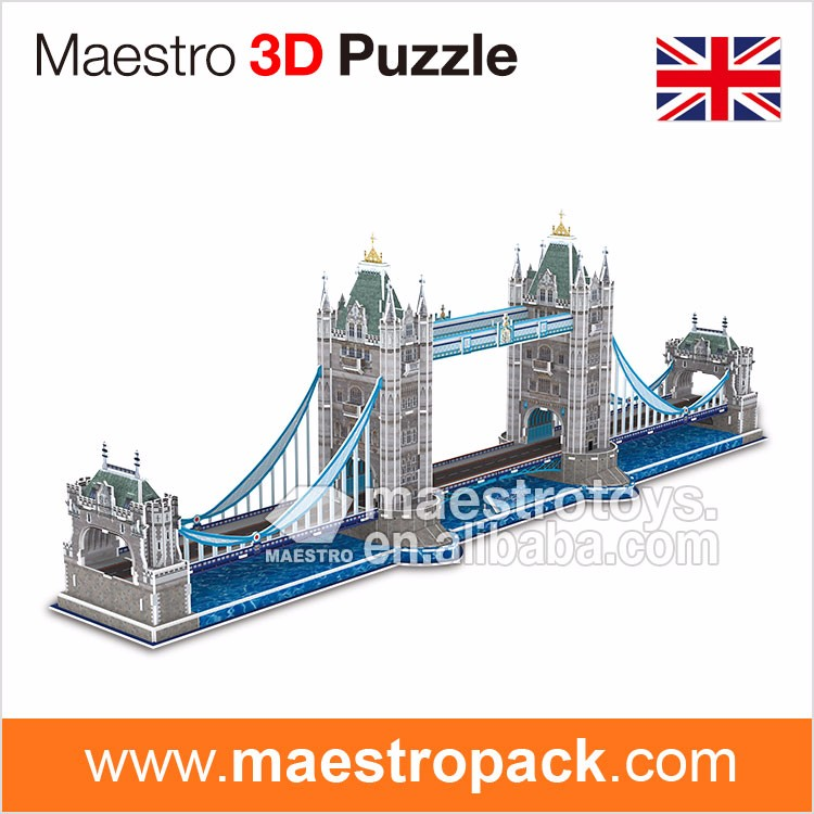 150PCS famous building design TOWER BRIDGE 3d puzzle