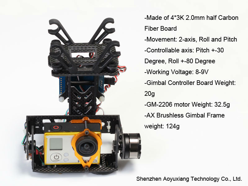 Brushless gimbal for Gopro 3