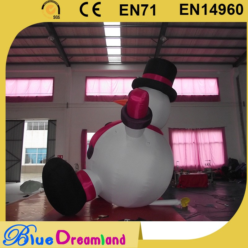 Great race large inflatable christmas product for cheap wholesale