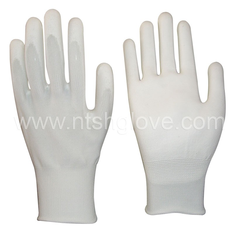 13 gauge pu palm coated working gloves safety glove sample free