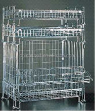 Heavy duty hand mental mesh wire container