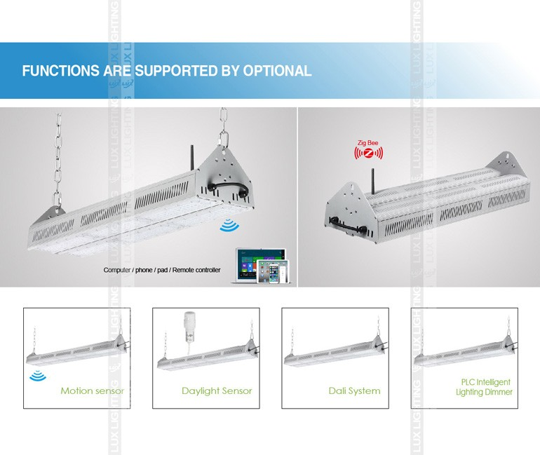 2016 new type 5 years IP67 480w 240w high bay led linear light
