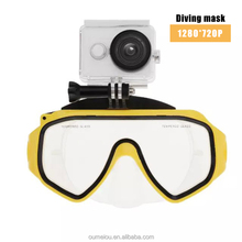 2014 New Waterproof Wide-angle Snorkelling Scuba Diving Mask Glasses Underwater Photography Video Hd 720p Camera