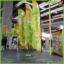 The blade signs feather flags for ad outdoor display safety flying knife flags and cheap bow head boat teardrop banners