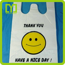 2015 Free Sample Customized New Clear plastic gift bag shopping