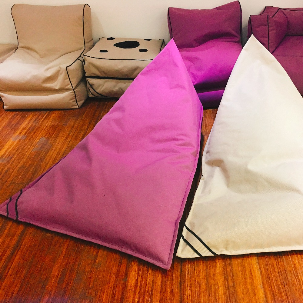 1200D Polyester Outdoor Triangle Bean Bag Chair