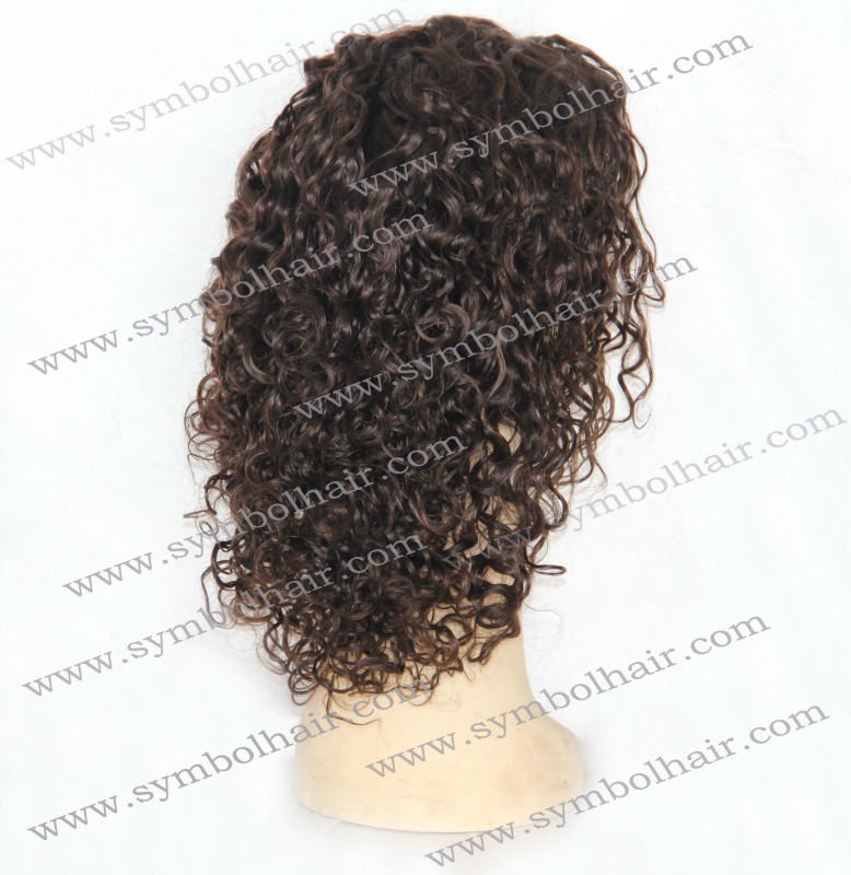 10inch 2#H4# curly mono wig