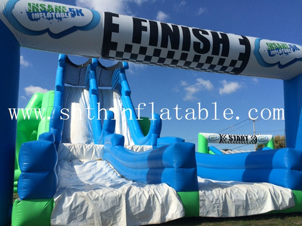 5K insane inflatable obstacle course for adult,inflatable water obstacle course for sale