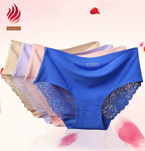 sexy lingerie seamless women breathable underwear back lace panties
