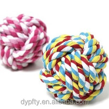 cotton stand cord woven dog rope ball toy