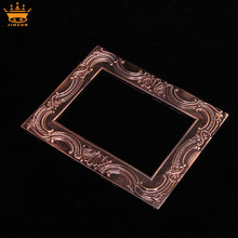Hot selling gold square bulk plastic frames decorative plastic mirror frames wholesale picture frames 5x7