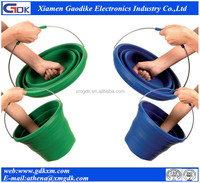 Easy to carry Silicone collapsible bucket