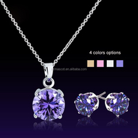 China Cheap Wholesale Silver 925 jewelry sets with CZ