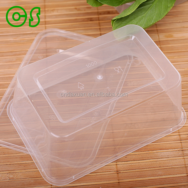 Promotional Kitchenware rectangle foldable plastic disposable lunch box