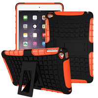 For iPad Case TPU&PC Kickstand Case Hybrid Impact Armor Back Cover For iPad Mini 4