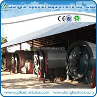 Used tyre pyrolysis machine with cap of 15-20T/D used tire processing equipment